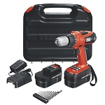 BLACK+DECKER HPD18AK-2 18V Drill/Driver with 10 Accessories