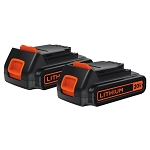 BLACK+DECKER LBXR20-OPE2 20V MAX* 1.5 Ah Lithium Ion Battery 2-Pack