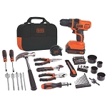 BLACK+DECKER LDX120PK 20V MAX* Lithium Ion Drill/Driver + 68 Piece Project Kit