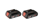 Bosch BAT612-2PK 18 V Lithium-Ion 2.0 Ah SlimPack Batteries 2 Pk