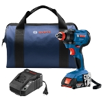 Bosch GDX18V-1600B12 18V 1/4 In. and 1/2 In. Two-In-One Bit/Socket Impact Driver Kit