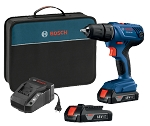 Bosch GSR18V-190B22 18 V Compact 1/2 In. Drill/Driver Kit with (2) 1.5 Ah SlimPack Batteries