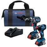 Bosch GXL18V-224B25 18V 2-Tool Combo Kit Two-In-One Bit/Socket Impact Driver Hammer Drill/Driver