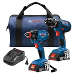 Bosch GXL18V-232B22 18V 2-Tool Combo Kit Drill/Driver Two-In-One Bit/Socket Impact Driver