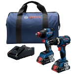 Bosch GXL18V-251B25 18V 2-Tool Combo Kit Two-In-One Impact Driver Hammer Drill/Driver