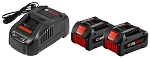 Bosch GXS18V-02N24 18 V CORE18 V Starter Kit with (2) CORE18 V 6.3 Ah Batteries