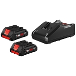 Bosch GXS18V-11N25 18V CORE18V Starter Kit with (2) CORE18V 4.0 Ah Compact Batteries