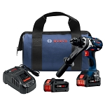 Bosch HDH183-B24 18V EC Brushless Brute Tough 1/2 In. Hammer Drill/Driver Kit with (2) CORE18V 6.3 Ah Batteries