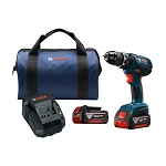 Bosch HDS181A-01 18V Compact Tough 1/2 In. Hammer Drill/Driver Kit