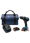 Bosch HDS181A-02 18V Compact Tough 1/2 In. Hammer Drill/Driver Kit