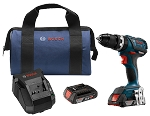 Bosch HDS183-02 18V EC Brushless Compact Tough 1/2 In. Hammer Drill/Driver Kit