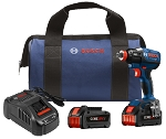 Bosch IDH182-B24 18V EC Brushless 1/4 In. and 1/2 In. Two-In-One Bit/Socket Impact Driver Kit with (2) CORE18 V 6.3 Ah Batteries