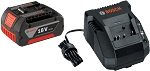 Bosch SKC181-101 2 pc. 18 V Lithium-Ion FatPack Battery and Charger Starter Kit