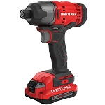 Craftsman CMCF800C2 V20* Cordless 1/4-in. Impact Driver Kit (2 Batteries)