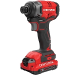 Craftsman CMCF810C2 V20* Cordless Brushless 1/4-in. Impact Driver Kit (2 Batteries)