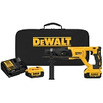 "DEWALT DCH133M2 20V MAX XR BRUSHLESS 1"" D-HANDLE ROTARY HAMMER"