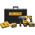 "DEWALT DCH293X2 20V MAX XR BRUSHLESS 1-1/8"" L-SHAPE SDS PLUS ROTARY HAMMER KIT W/9.0AH"