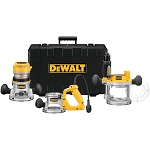 DEWALT DW618B3 2-1/4 HP (MAXIMUM MOTOR HP) THREE BASE ROUTER KIT