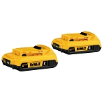 Dewalt DCB203-2 20V MAX* Compact Lithium Ion 2-Pack
