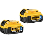 Dewalt DCB204BT-2 20V MAX* XR LITHIUM ION BATTERY W/ BLUETOOTH (2-PACK)
