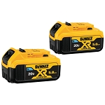 Dewalt DCB205BT-2 20V MAX* TOOL CONNECT™ BATTERY (5 AH) - 2 PACK