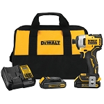 Dewalt DCF809C2 ATOMIC 20V MAX* BRUSHLESS CORDLESS COMPACT 1/4 IN. IMPACT DRIVER KIT TWO BATTERY KIT
