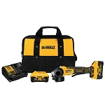 Dewalt DCG413R2 4.5 In. 20v Max* Xr® Paddle Switch Small Angle Grinder Kit With Kickback Brake