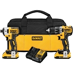 Dewalt DCK283D2 20V MAX* XR® LITHIUM ION BRUSHLESS COMPACT DRILL / DRIVER & IMPACT DRIVER COMBO KIT