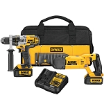 Dewalt DCK292L2 20V MAX* LITHIUM ION HAMMERDRILL / RECIP SAW COMBO KIT (3.0 AH)