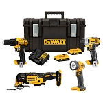 Dewalt DCKTS444D2 20V MAX* 4-TOOL COMBO KIT WITH TOUGHSYSTEM®