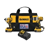 Dewawlt DCK299P2LR 20V MAX* XR® HAMMER DRILL/IMPACT DRIVER COMBO KIT WITH LANYARD READY™ ATTACHMENT POINTS