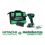 Hitachi / Metabo WH18DBFL2S 18V Lithium Ion Brushless Impact Driver with 1 Battery