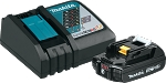 Makita BL1820BDC1 18V LXT® Lithium-Ion Compact Battery and Rapid Charger Starter Pack