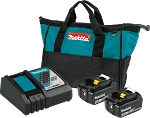 Makita BL1840BDC2 18V LXT Lithium-Ion Battery and Rapid Optimum Charger Starter Pack (4.0Ah)
