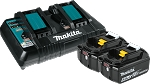 Makita BL1850B2DC2 18V LXT® Lithium-Ion Battery and Dual Port Charger Starter Pack (5.0Ah)