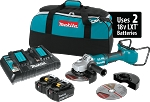 Makita XAG12PT1 18V X2 LXT Lithium-Ion (36V) Brushless Cordless Cut-Off/Angle Grinder Kit