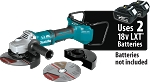 Makita XAG22ZU1 18V X2 LXT Lithium-Ion (36V) Brushless Cordless Cut-Off/Angle Grinder Tool Only