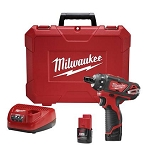 "Milwaukee 2406 – Cordless M12 FUEL 1/4"" Hex 2-Speed Screwdriver Kit"