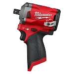 "Milwaukee 2555P-20 M12 FUEL™ 1/2"" Stubby Impact Wrench w/ Pin Detent"