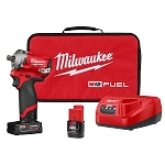 "Milwaukee 2555P-22 M12 FUEL™ 1/2"" Stubby Impact Wrench w/ Pin Detent Kit"