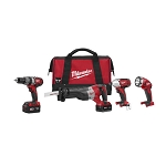 Milwaukee 2696-24 M18™ Cordless LITHIUM-ION 4-Tool Combo Kit