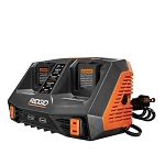 RIDGID AC840094 18V Dual-Port Sequential Charger