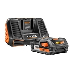 RIDGID AC848695 18V 2.0Ah Battery and Charger Starter Kit