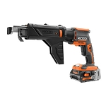 RIDGID R86630K Brushless 18V Drywall Screwdriver with Collated Attachment Kit
