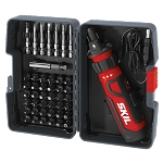 SKIL SD561204 Rechargeable 4V Screwdriver with Circuit Sensor™ Technology w/ 45 pc. Bit Kit Case