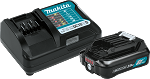 Makita BL1021BDC1 12V max CXT® Lithium-Ion Battery and Charger Starter Pack (2.0Ah)