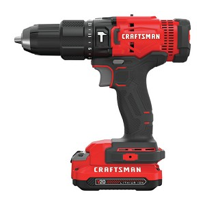 Craftsman CMCD711C2 V20* Cordless 1/2-in. Hammerdrill Kit (2 Batteries)