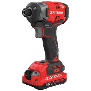 Craftsman CMCF820D2 V20* Cordless Brushless 1/4-in. Impact Driver Kit (2 Batteries)