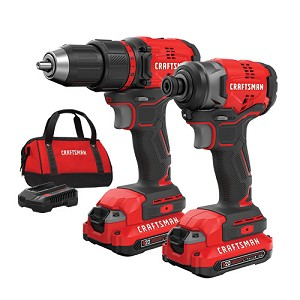 Craftsman CMCK210C2 V20* Cordless Brushless Compact 2 Tool Combo Kit (2 Batteries)