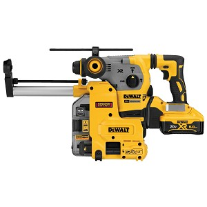 DEWALT DCH293R2DH 20V MAX* XR® BRUSHLESS 1-1/8 IN. L-SHAPE SDS PLUS ROTARY HAMMER KIT W/ DUST COLLECTION